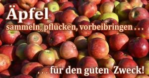 Äpfel für den guten Zweck - sammeln, pflücken, vorbeibringen ...